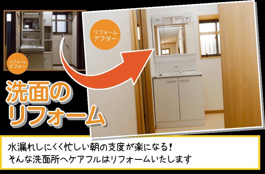 千葉の洗面化粧台のリフォーム