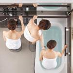 入浴しやすい動線設計&サポートバー