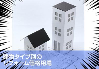 建物タイプ別のリフォーム価格相場